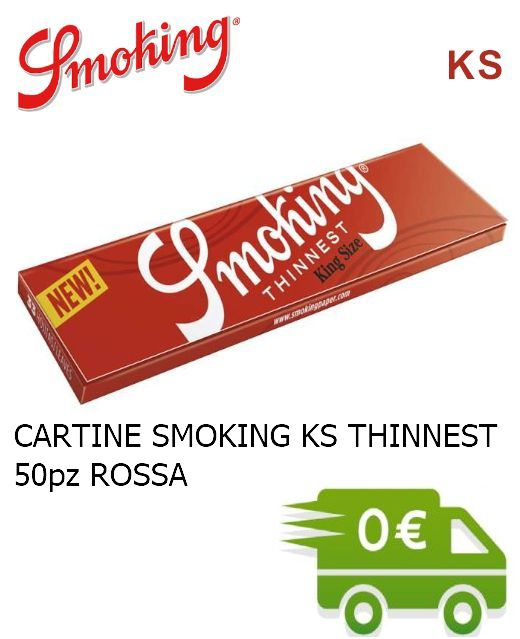 CARTINE SMOKING KS THINNEST PROMO composta da:------