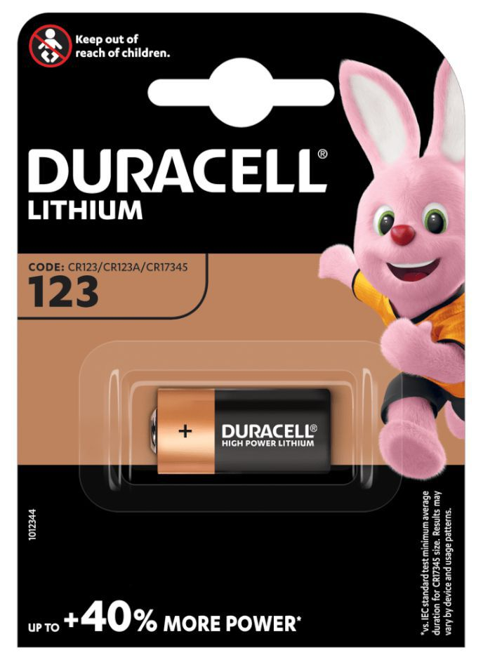 PASTIGLIE DURACELL 123A 3v 1x 1pz M3 ULTRA LITHIUM