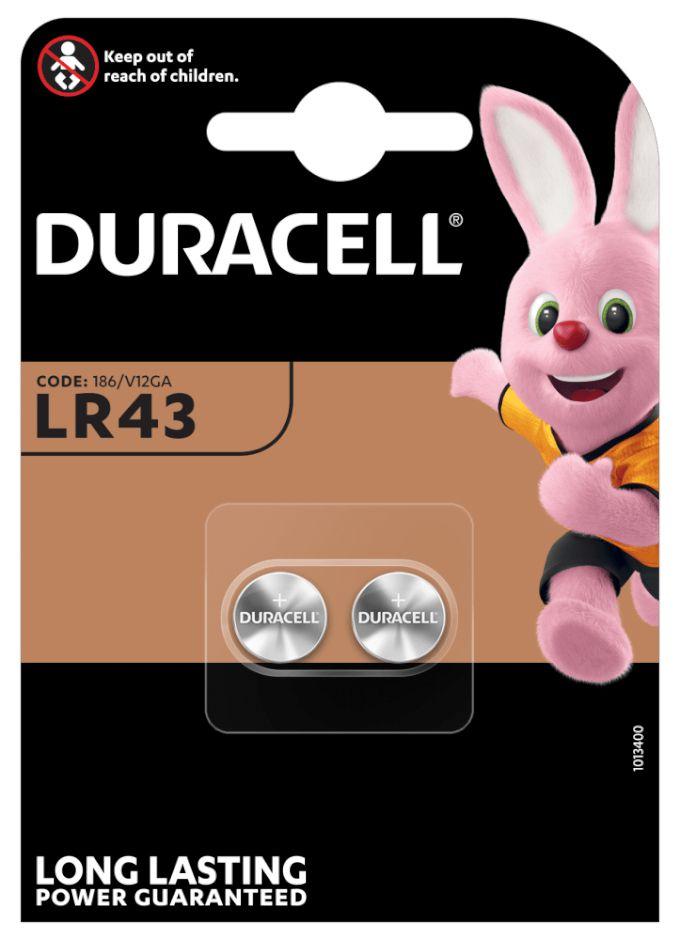 PASTIGLIE DURACELL LR43 2x 1,5v