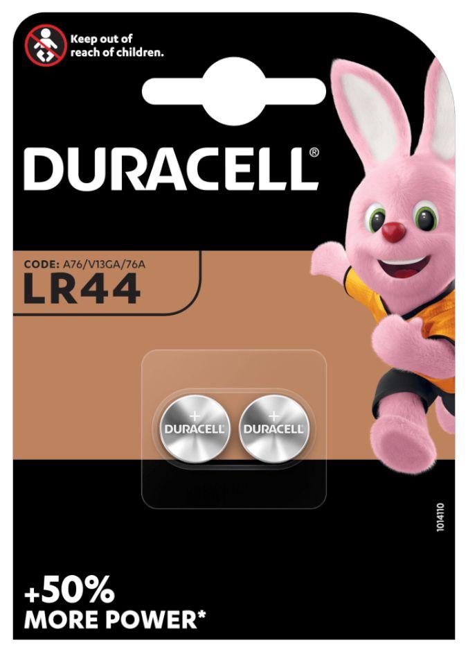 PASTIGLIE DURACELL LR44 1.5v 2x 1pz