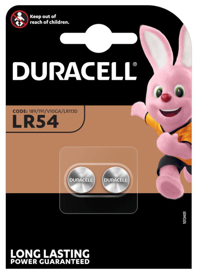 PASTIGLIE DURACELL LR54 1.5v 2x 1pz