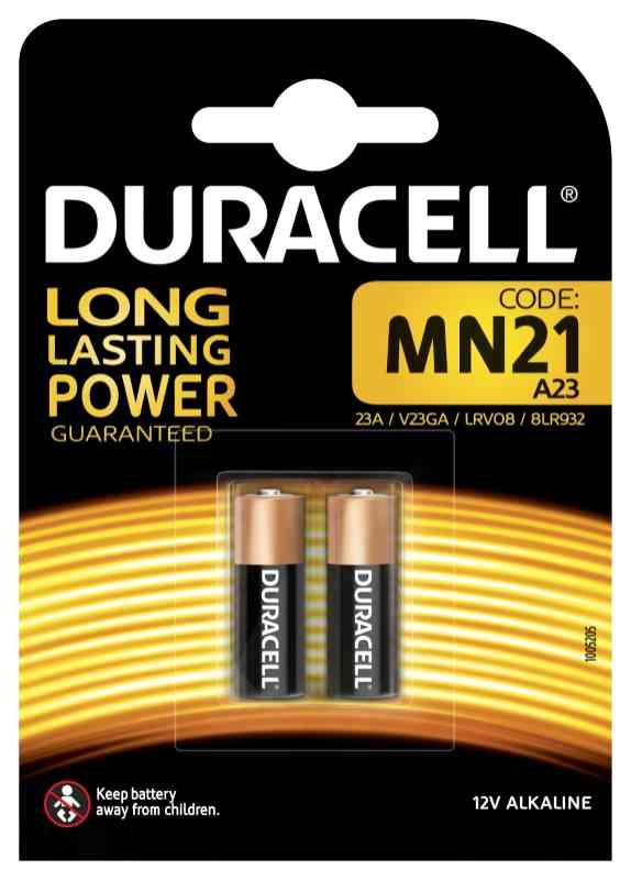 BATTERIE DURACELL MN21 12v 2x 1pz - apri cancello/macchina