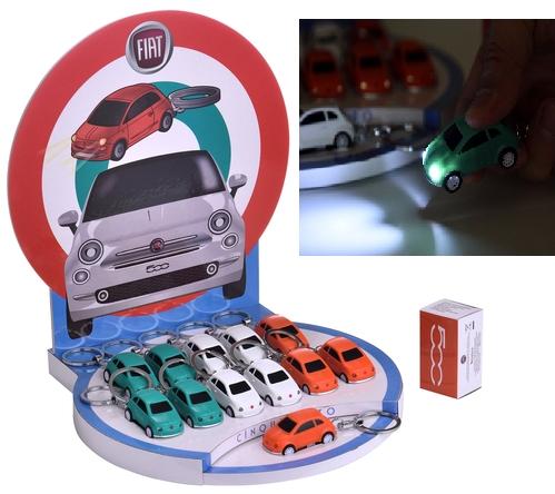 PORTACHIAVI FIAT 500 EXPO 12pz + SCATOLA