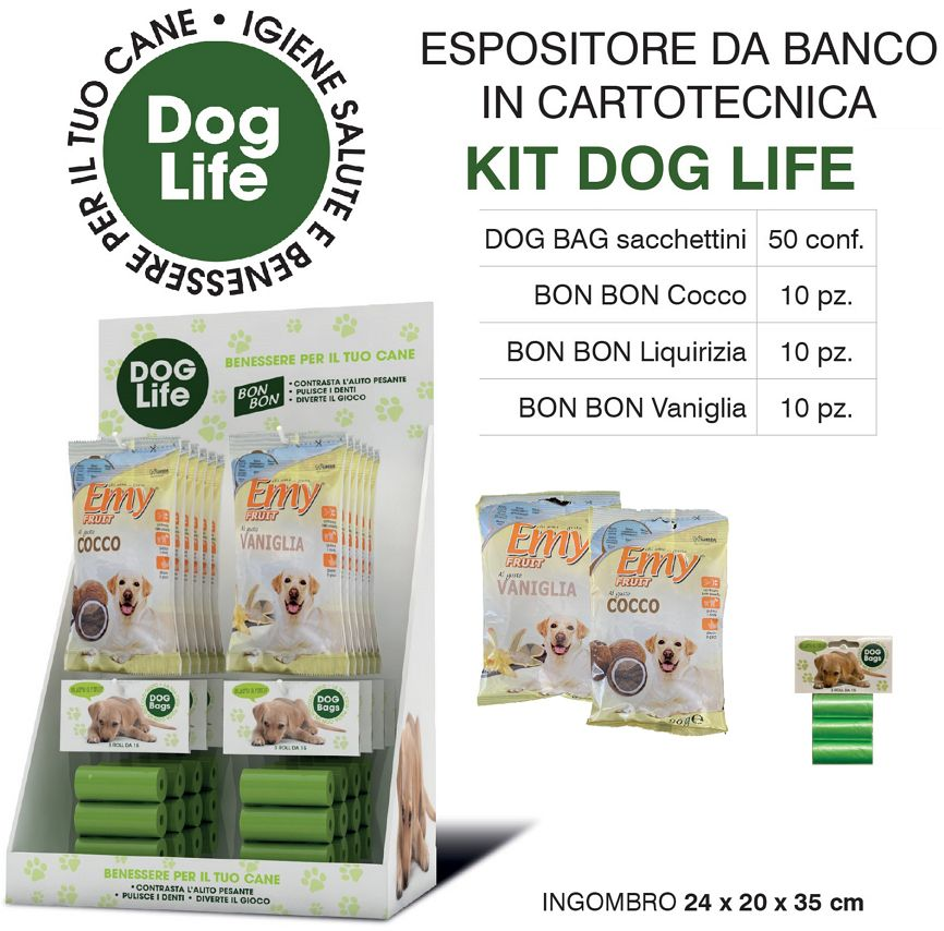 PET EXPO 80pz -  SACCHETTI 50 + BON BON CANI 30 - DOG LIFE