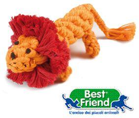 PET GIOCHI ANIMALI LEONE COTTON 15cm 95gr 1pz BEST FRIEND