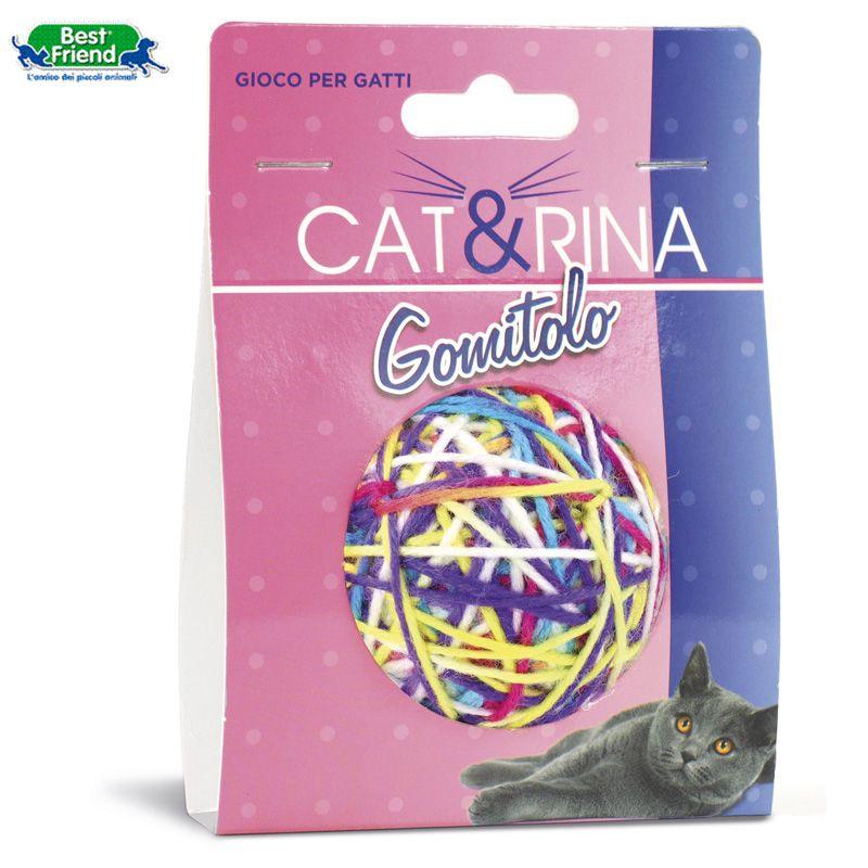 PET GIOCHI GATTO PALLA LANA MULTICOLOR 5,5cm 11gr 1pz CAT&RINA BEST FRIEND