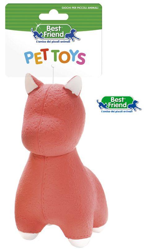 PET GIOCHI ANIMALI LATTICE CAGNOLINI GIALLO/BIANCO/ROSSO 80gr 1pz BEST FRIEND