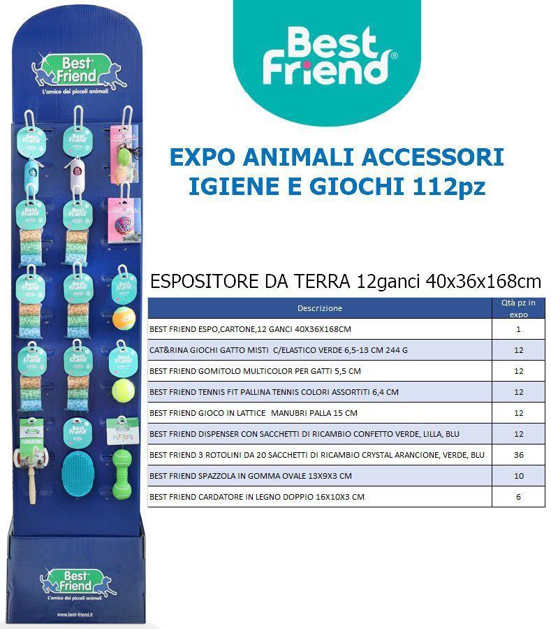 PET EXPO ANIMALI ACCESSORI IGIENE E GIOCHI 112pz - ESPOSITORE DA TERRA BEST FRIEND