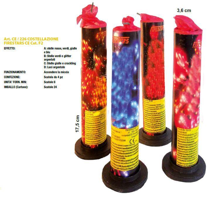FONTANA COSTELLAZIONE  17,5cm - 4pz FIRESTAR - 2020