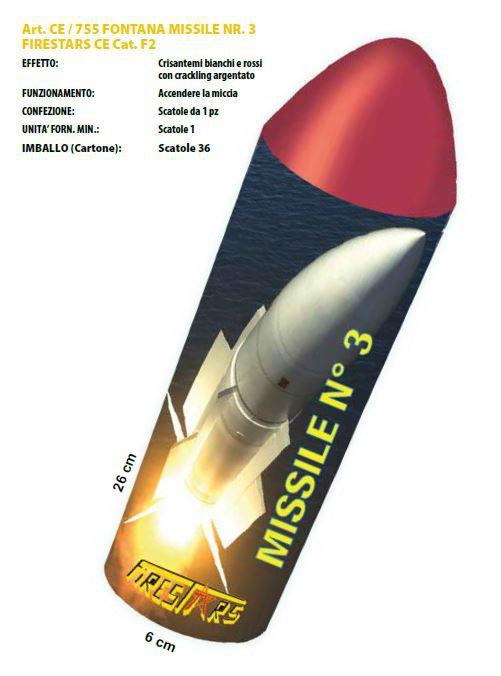 FONTANA MISSILE NR.3 1pz 26x6cm FIRESTAR - 2020