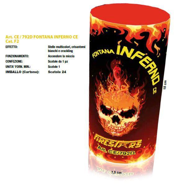 FONTANA INFERNO 1pz FIRESTAR - 2020