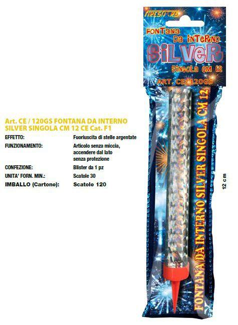FONTANA DA INTERNO SILVER 12cm - 30pz FIRESTAR - 2020