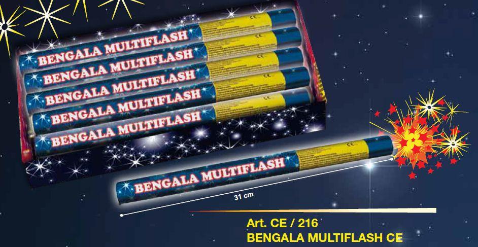 BENGALA MULTIFLASH 31cm - 8 CONF. DA 6pz FIRESTAR - 2020
