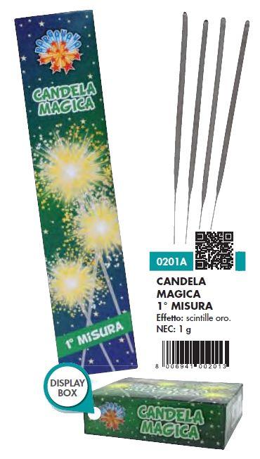 CANDELINE MAGICHE 18cm 10pcs x100pz BORGONOVO