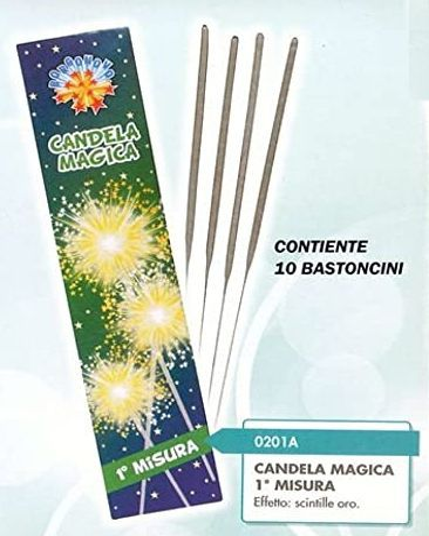 CANDELINE MAGICHE 18cm 10pcs x24pz BLISTER BORGONOVO