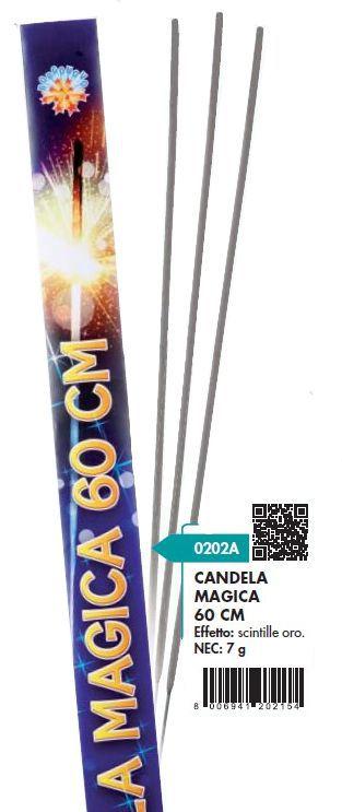 CANDELINE MAGICHE 60cm 4pcs x25pz BORGONOVO