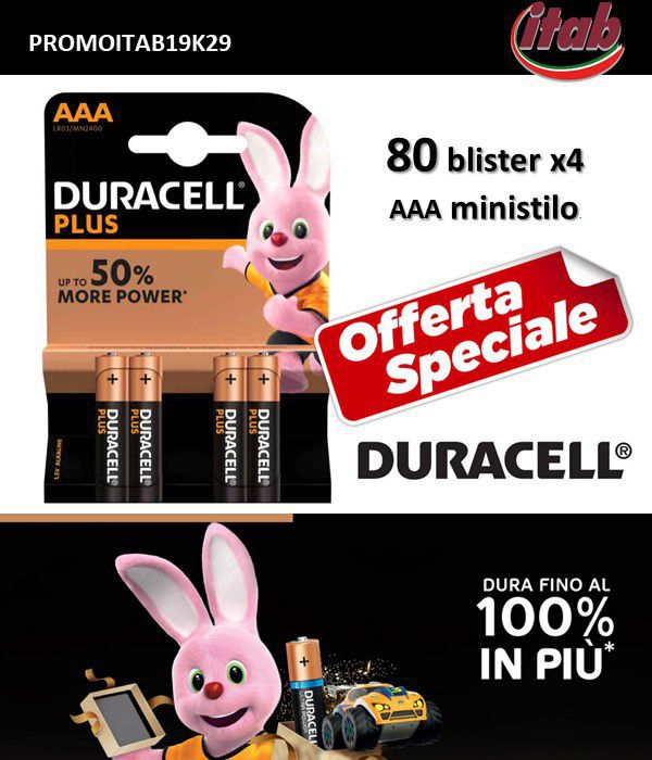 BATTERIE DURACELL PROMOZIONE ITAB N.29/19 MINISTILO