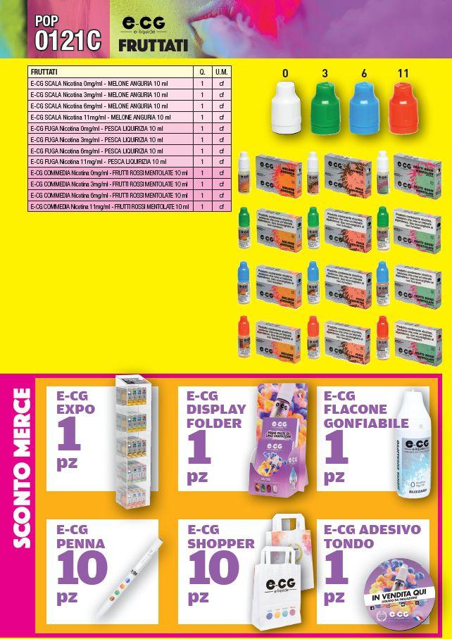 PROMOZIONE ITAB N.0121C - LIQUIDI e-CG by OCB 60pz - 0121C FRUTTATI