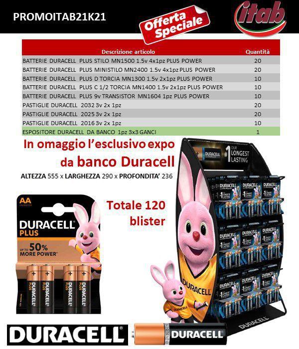 BATTERIE DURACELL PROMOZIONE ITAB N.21/21 + EXPO DA BANCO