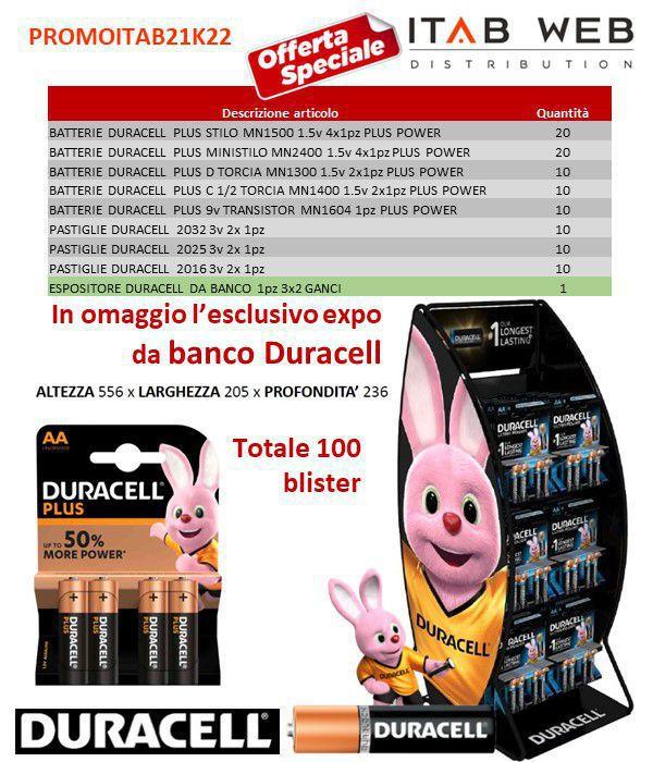 BATTERIE DURACELL PROMOZIONE ITAB N.21/22 + EXPO DA BANCO