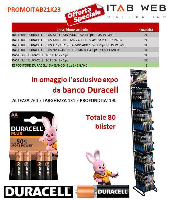 BATTERIE DURACELL PROMOZIONE ITAB N.21/23 + EXPO DA BANCO