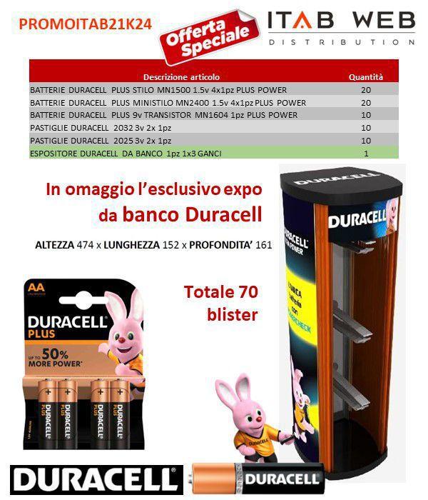 BATTERIE DURACELL PROMOZIONE ITAB N.21/24 + EXPO DA BANCO