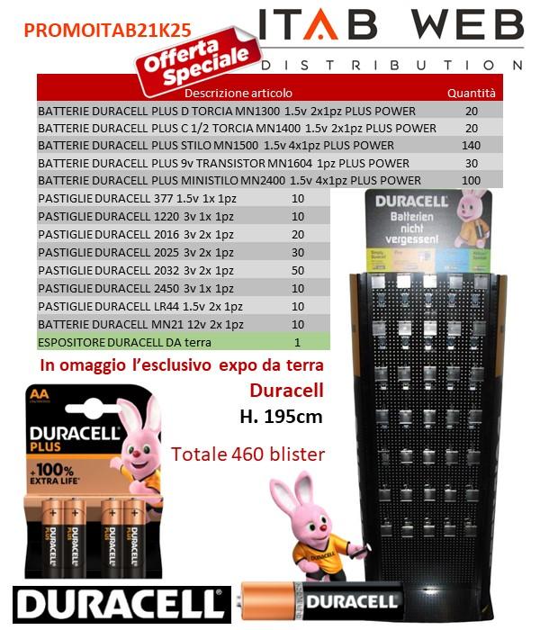 BATTERIE DURACELL PROMOZIONE ITAB N.21/25 + EXPO DA TERRA LUXE