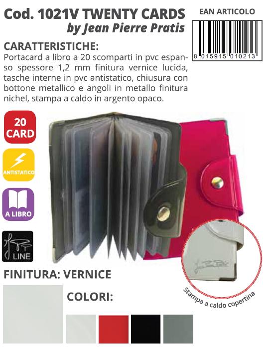 PORTA CARDS MORBIDO 12T 24pz TWENTY VOGUE ALPLAST