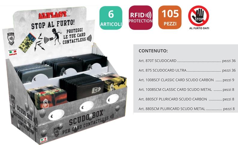 PORTA CARDS ALPLAST SCUDOBOX EXPO 105pz - EXPO DA BANCO PRECARICATO