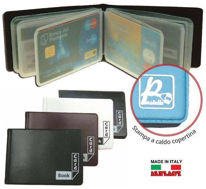 PORTA CARDS MORBIDO 12 SCOMPARTI A LIBRO 24pz CLASSIC ALPLAST