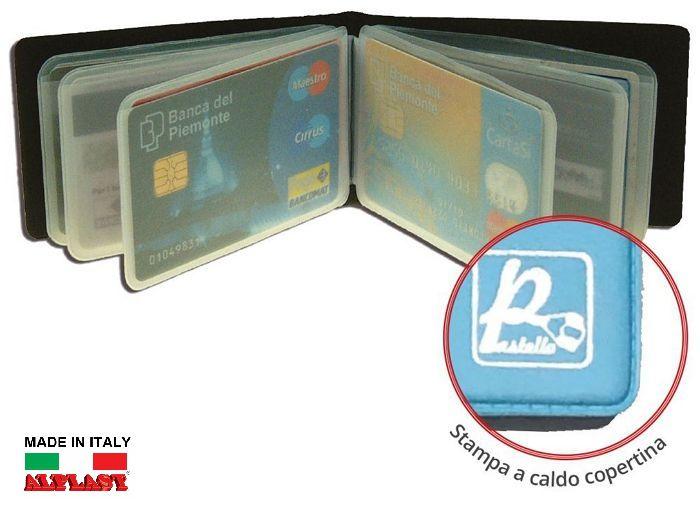 PORTA CARDS MORBIDO 12 SCOMPARTI A LIBRO 24pz PASTEL ALPLAST