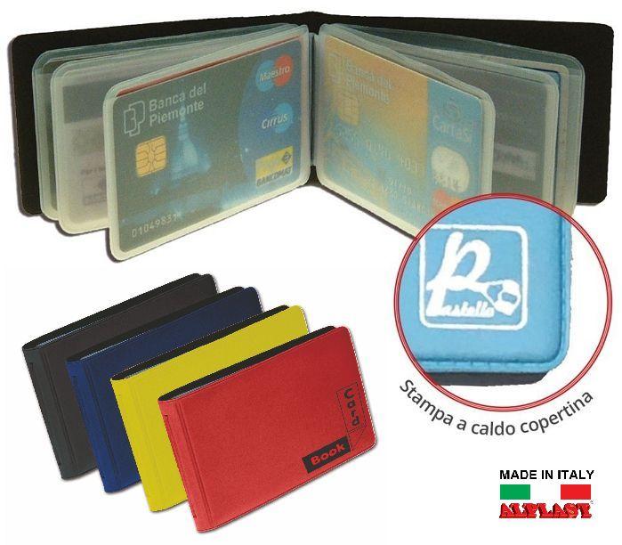 PORTA CARDS MORBIDO 12 SCOMPARTI A LIBRO 24pz ALPLAST