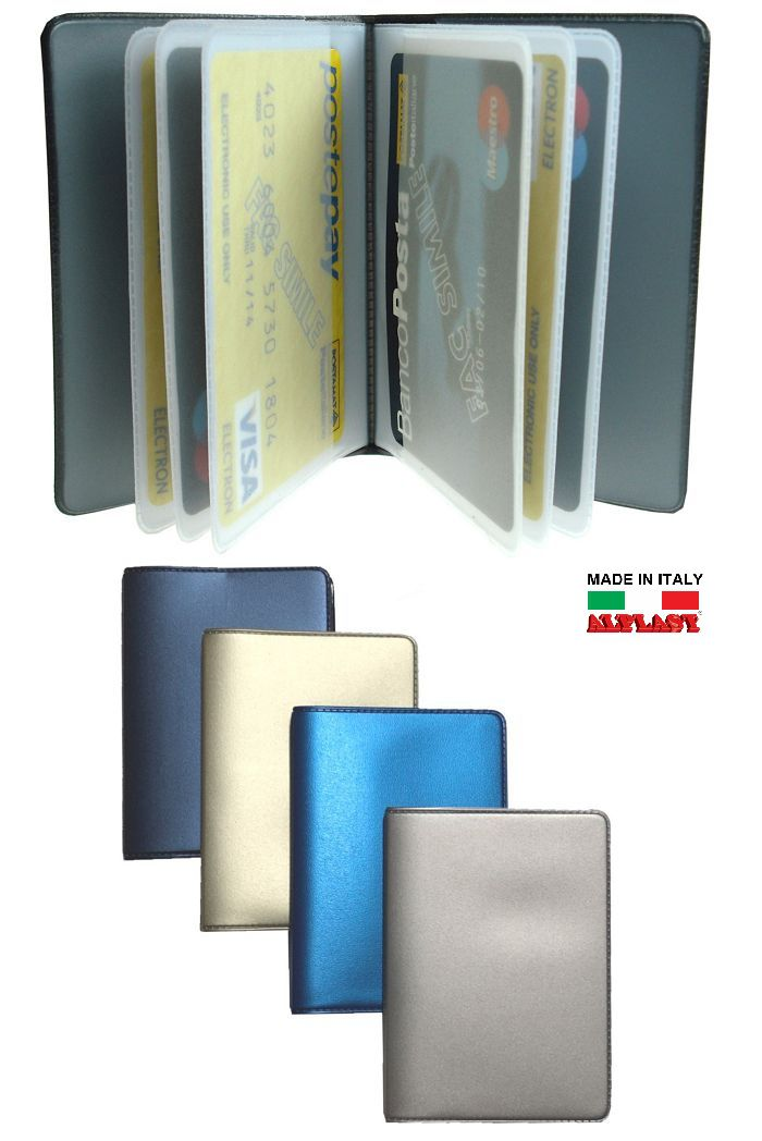 PORTA CARDS MORBIDO 24pz 14T PLURICARD METAL ALPLAST