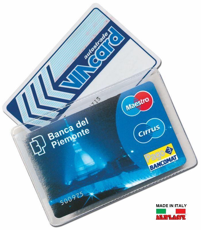 PORTA CARDS MORBIDO 100pz 2T TRASPARENTE  ALPLAST