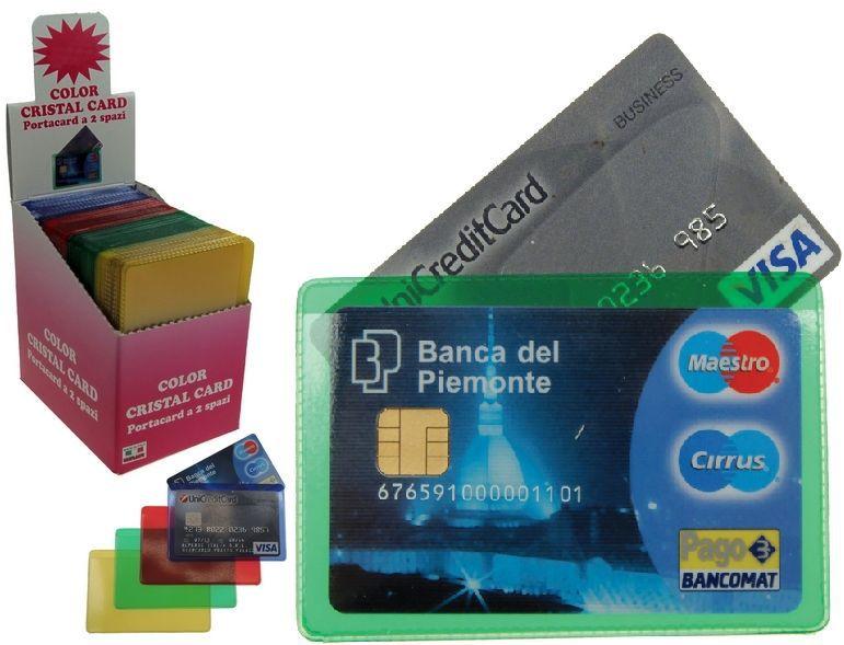 PORTA CARDS MORBIDO  40pz  2T COLOR CRISTAL ALPLAST