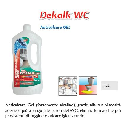 DETERGENTE DEKALK WC 1pz 1000ml - SUPER5