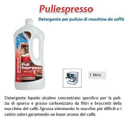 DETERGENTE PULIESPRESSO 1pz 1000ml PER MACCHINA CAFFE - SUPER5