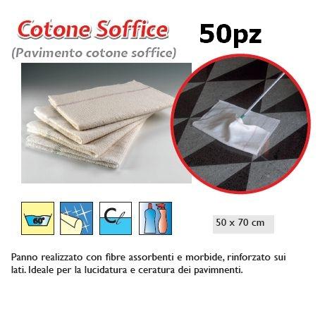 PANNO PAVIMENTO COTONE SOFFICE 50pz - SUPER5