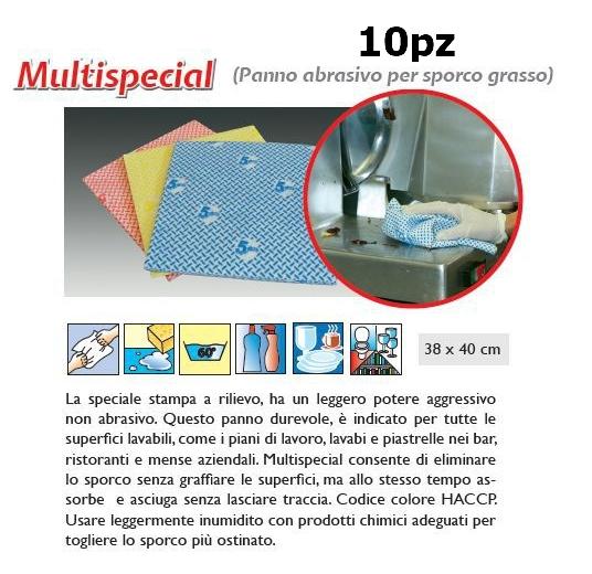 PANNO MULTISPECIAL 10pz VERDE - SUPER5