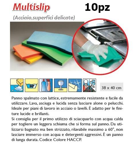 PANNO MULTISPLIP 10pz VERDE - SUPER5