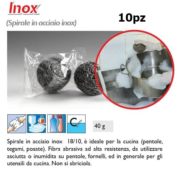 SPUGNA INOX ABRASIVA 10pz 40gr - SUPER5