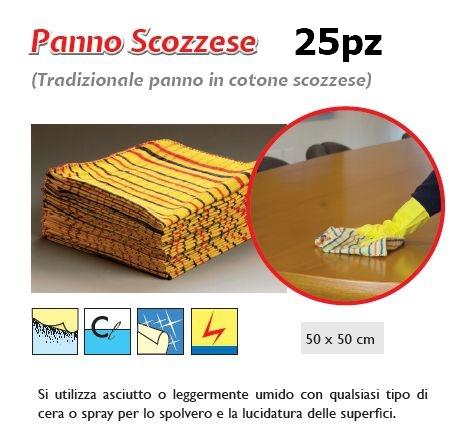 PANNO SCOZZESE 25pz 50x50cm - SUPER5