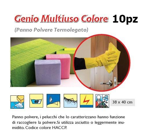 PANNO GENIO MULTIUSO 10pz ROSA - SUPER5