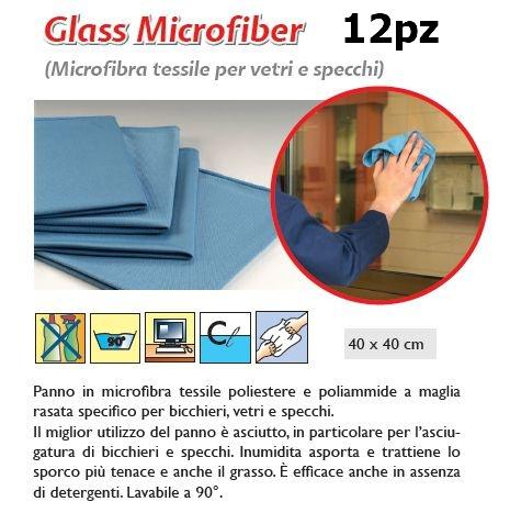 PANNO GLASS MICROFIBER 12pz - SUPER5