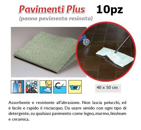 PANNO PAVIMENTO PLUS 10pz VERDE/BIANCO - SUPER5