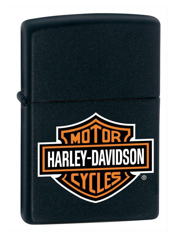 ZIPPO ACCENDINO HARLEY DAVIDSON® 1pz BAR & SHIELD BLACK